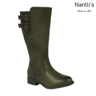 BL-Pita-50W Olive Botas de Mujer Mayoreo Wholesale Womens Boots Nantlis