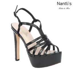 BL-Sarena-1 Black Zapatos de Mujer Mayoreo Wholesale Women Heels Shoes Nantlis