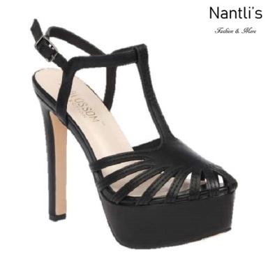 BL-Sarena-8 Black Zapatos de Mujer Mayoreo Wholesale Women Heels Shoes Nantlis