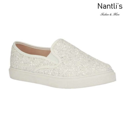 BL-T-Asuka-1 White Zapatos de nina Mayoreo Wholesale toddlers sneakers Shoes Nantlis
