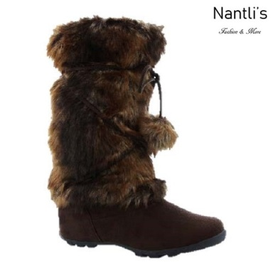BL-Tara-Hi Brown Botas de Mujer Mayoreo Wholesale Womens Boots Nantlis