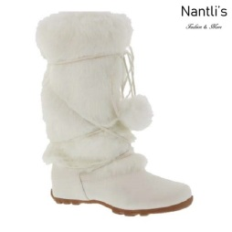 BL-Tara-Hi White Botas de Mujer Mayoreo Wholesale Womens Boots Nantlis
