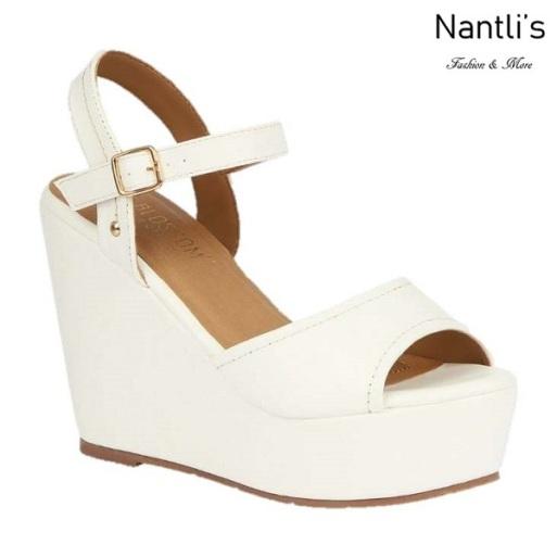 BL-Whitney-20 White Zapatos de Mujer Mayoreo Wholesale Women Shoes Wedges Nantlis