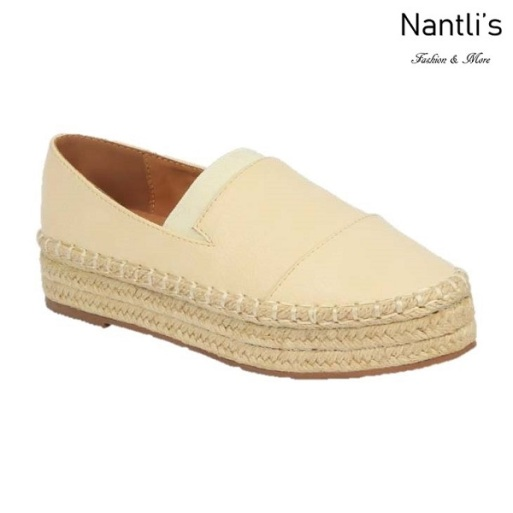BL-Yanny-14 Beige Zapatos de Mujer Mayoreo Wholesale Women Shoes Flats sneakers Nantlis