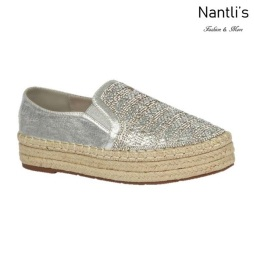 BL-Yanny-15 Silver Zapatos de Mujer Mayoreo Wholesale Women Shoes Flats sneakers Nantlis
