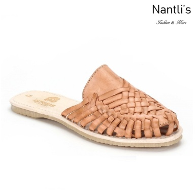 Huaraches Mayoreo CAH740 Natural Huarache de piel para mujer Womens Mexican leather sandals Nantlis Tradicion de Mexico