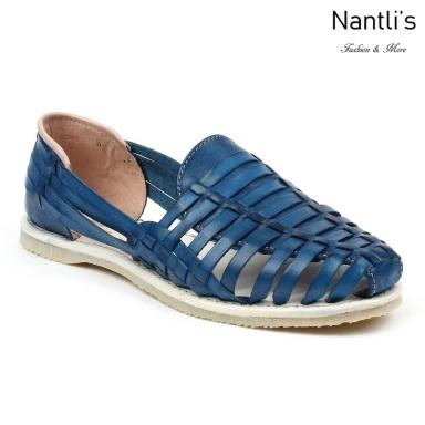 Huaraches Mayoreo CAH751 Royal Blue Huarache de piel para mujer Womens Mexican leather sandals Nantlis Tradicion de Mexico