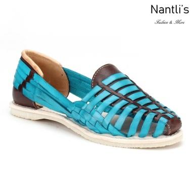 Huaraches Mayoreo CAH751 Turquoise Huarache de piel para mujer Womens Mexican leather sandals Nantlis Tradicion de Mexico