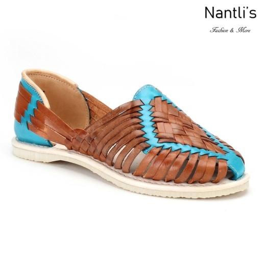 Huaraches Mayoreo CAH753 Multi Turq Huarache de piel para mujer Womens Mexican leather sandals Nantlis Tradicion de Mexico