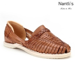 Huaraches Mayoreo Nantlis CAH754 Tan Huarache de piel para mujer Womens Mexican leather sandals Nantlis Tradicion de Mexico