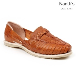 Huaraches Mayoreo CAH754 Walnut Huarache de piel para mujer Womens Mexican leather sandals Nantlis Tradicion de Mexico