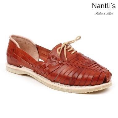 Huaraches Mayoreo CAH758 Caoba Huarache de piel para mujer Womens Mexican leather sandals Nantlis Tradicion de Mexico