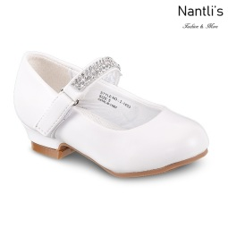 LD-i1403 White Zapatos por Mayoreo Wholesale girls shoes Nantlis Little Dominiques Kids Shoes