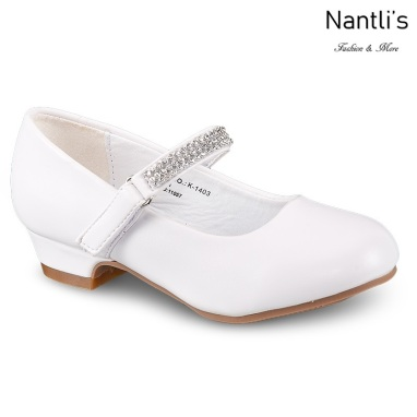 LD-k1403 White Zapatos por Mayoreo Wholesale girls shoes Nantlis Little Dominiques Kids Shoes