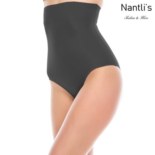 Nantlis 70183 Black calzon con faja Shapewear Seamless Panty Front view