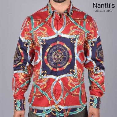 Nantlis Camisa DPL6107 Mens Long Sleeve Shirt