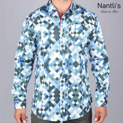 Nantlis Camisa DPL6182 Mens Long Sleeve Shirt