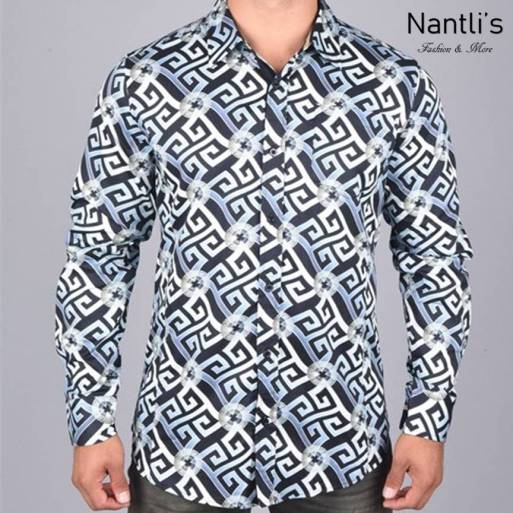 Nantlis Camisa DPL6188 Mens Long Sleeve Shirt