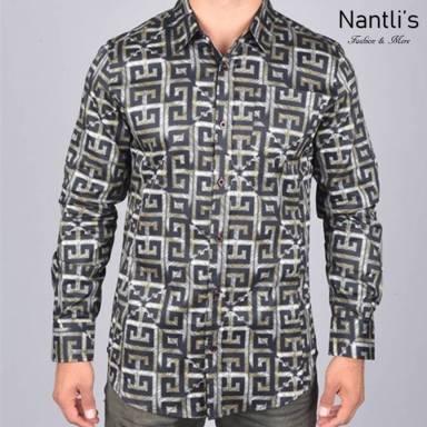 Nantlis Camisa DPL6189 Mens Long Sleeve Shirt
