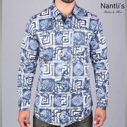 Nantlis Camisa DPL6191 Mens Long Sleeve Shirt