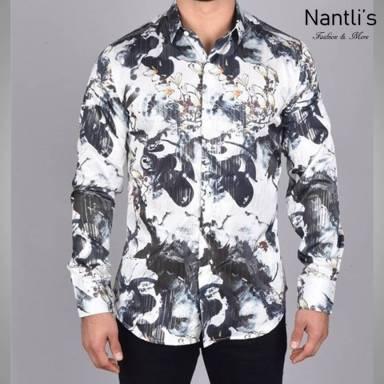 Nantlis Camisa FPL6319 Mens Long Sleeve Shirt