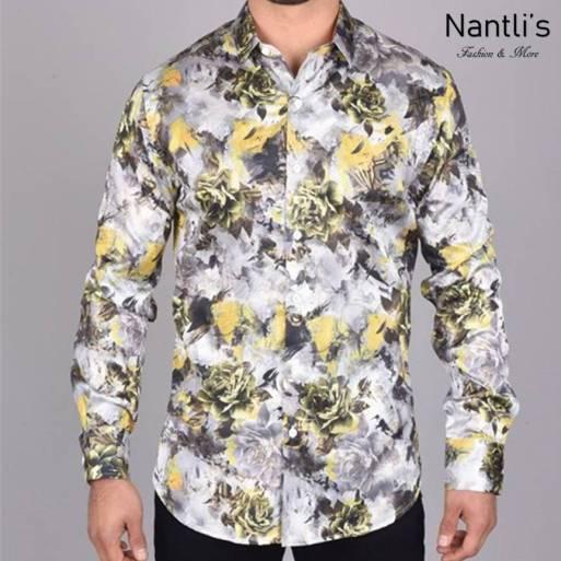 Nantlis Camisa FPL6337 Mens Long Sleeve Shirt