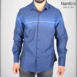 Nantlis Camisa FSL5836 Mens Long Sleeve Shirt