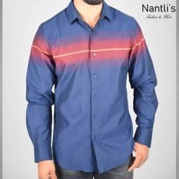 Nantlis Camisa FSL5837 Mens Long Sleeve Shirt