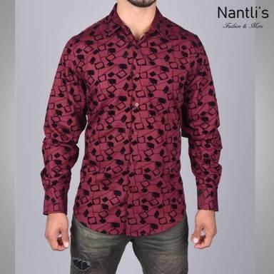 Nantlis Camisa MFL5981 Mens Long Sleeve Shirt