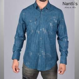 Nantlis Camisa WPL5950 Mens Long Sleeve Shirt