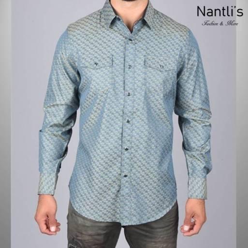 Nantlis Camisa WSL6039 Mens Long Sleeve Shirt