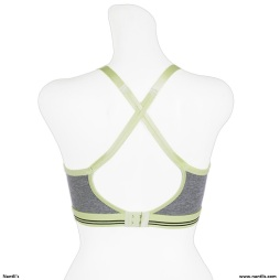 Nantlis YM5616 Grey Sports Bra Active wear back