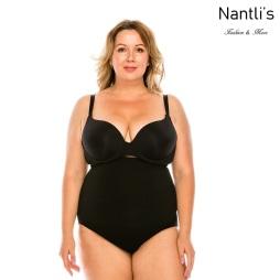 Nantlis YM70146Q-BLACK Calzon con faja Shapewear Seamless Panty Front