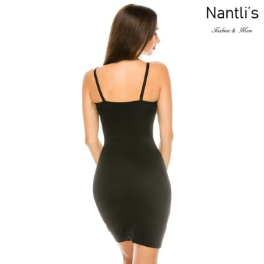 Nantlis YM70208 Black vestido faja Shapewear Seamless Dress back