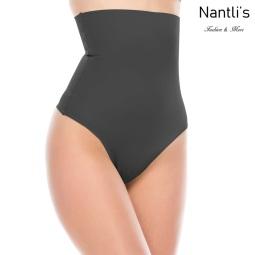 Nantlis YMGD70224 Black-Q Tanga con faja Shapewear Seamless Thong Front