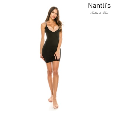 Nantlis YM70243-BLACKvestido faja frente bajo Shapewear Seamless Dress front low Front
