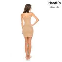 Nantlis YM70243-Nude vestido faja frente bajo Shapewear Seamless Dress front low Back