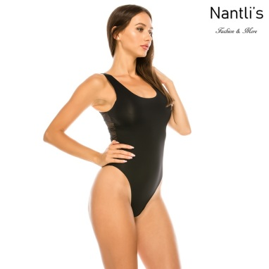 Nantlis YM70244 Black faja leotardo Shapewear suit front