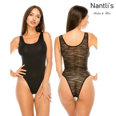 Nantlis YM70244 Black faja leotardo Shapewear suit