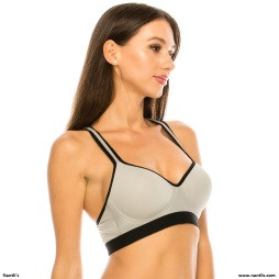 Nantlis YMSB60058 Top Grey Side Sports Bra Active wear