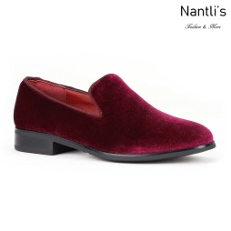 SL-j351 burgundy Zapatos por Mayoreo Wholesale kids shoes Nantlis Santino