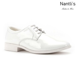 SL-K382 patent white Zapatos por Mayoreo Wholesale kids shoes Nantlis Santino