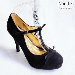 Zapatos de Mujer MC-Amaleria Black-Suede Women Shoes Nantlis Mayoreo Wholesale