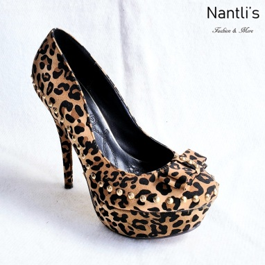 Zapatos de Mujer MC-Aquely Leopard Women Shoes Nantlis Mayoreo Wholesale