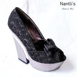 Zapatos de Mujer MC-Audelia Black Women Shoes Nantlis Mayoreo Wholesale
