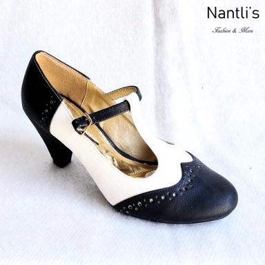 Zapatos de Mujer MC-Carina Black-White Women Shoes Nantlis Mayoreo Wholesale