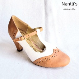 Zapatos de Mujer MC-Carina Tan-White Women Shoes Nantlis Mayoreo Wholesale