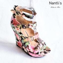 Zapatos de Mujer MC-Emelian Black-Flowers Women Shoes Nantlis Mayoreo Wholesale