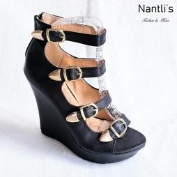 Zapatos de Mujer MC-Emelian Black Women Shoes Nantlis Mayoreo Wholesale