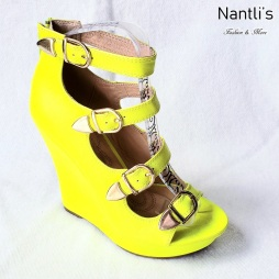Zapatos de Mujer MC-Emelian Yellow Women Shoes Nantlis Mayoreo Wholesale